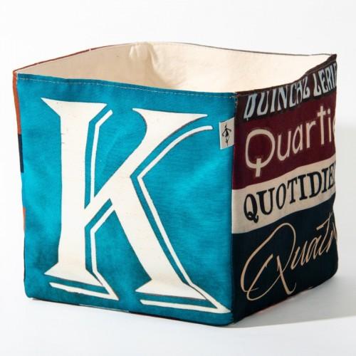 Alphabet fabric Box letter KQ