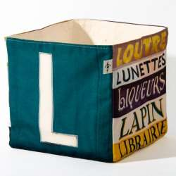 Alphabet fabric Box letter L