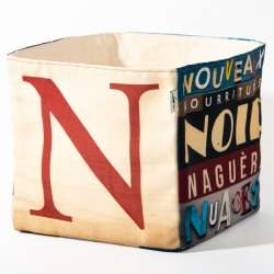 Alphabet fabric Box letter N