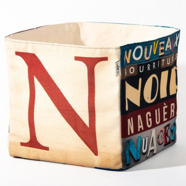 Alphabet fabric Box letter N