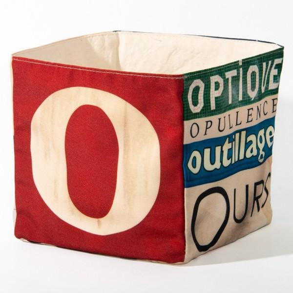 Alphabet fabric Box letter O