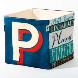 Alphabet fabric Box letter P