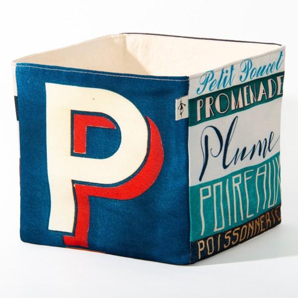 Alphabet fabric Box letter P