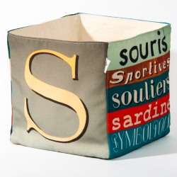 Alphabet fabric Box letter S