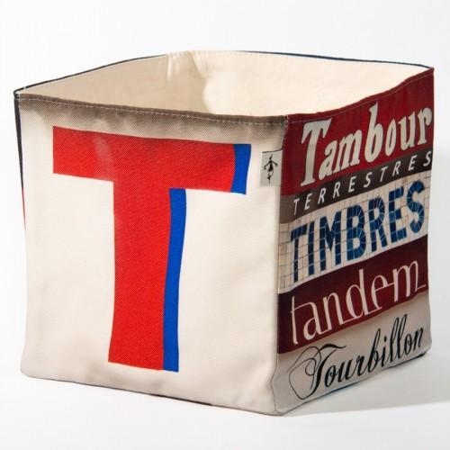 Alphabet fabric Box letter T