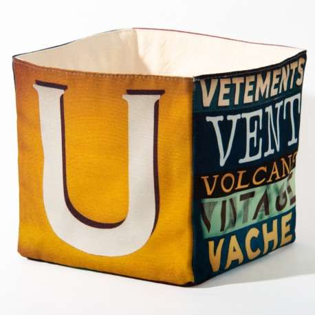 Alphabet fabric Box letter UV