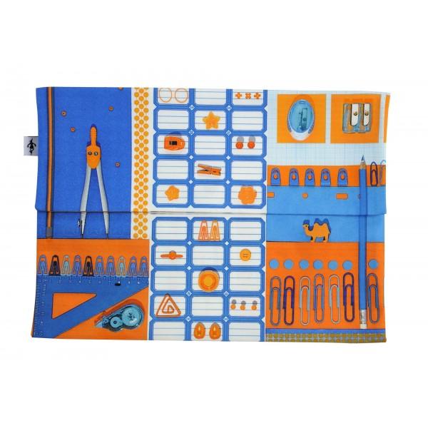Porte-documents La Bricole Orange et bleu