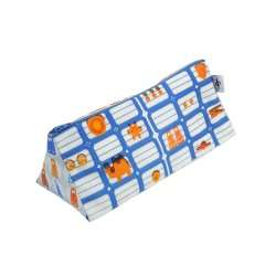 Pencil case La Bricole Orange and blue