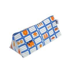 Trousse La Bricole Orange et bleu