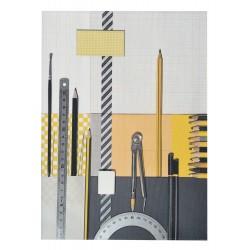 School Note-book Cover La Bricole Yellow and black