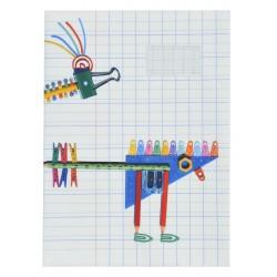 School Note-book Cover La Bricole Multicolored