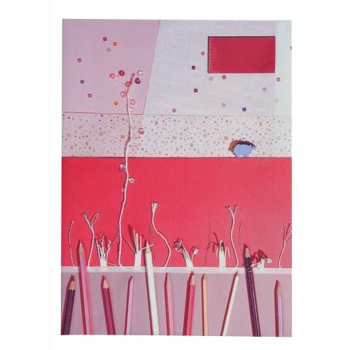 School Note-book Cover La Bricole Pink