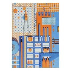 School Note-book Cover La Bricole Orange et blue