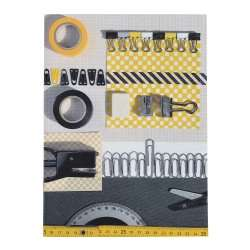 Notepad Cover La Bricole Yellow and black