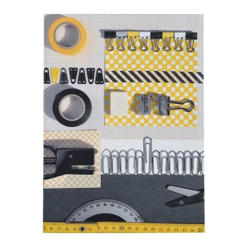Notepad Cover La Bricole Yellow and black