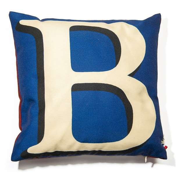Alphabet cushion cover letter B