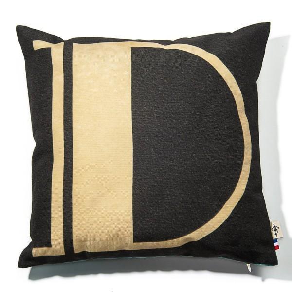 Alphabet cushion cover letter D