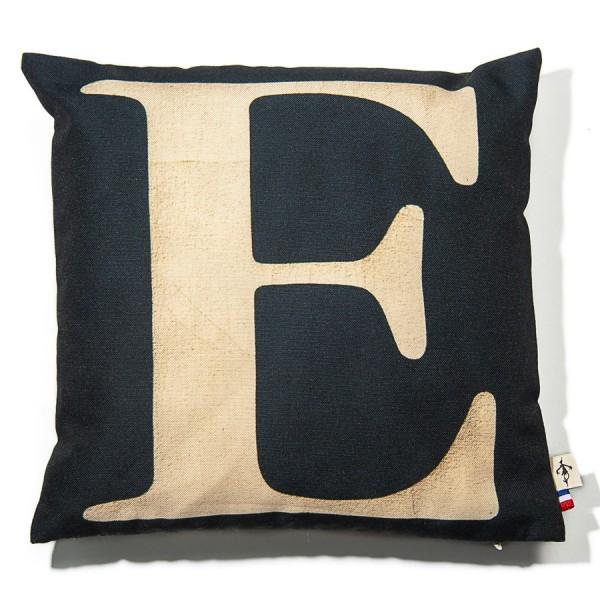 Alphabet cushion cover letter E