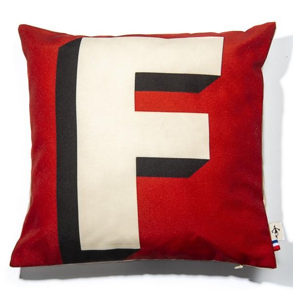 Alphabet cushion cover letter F