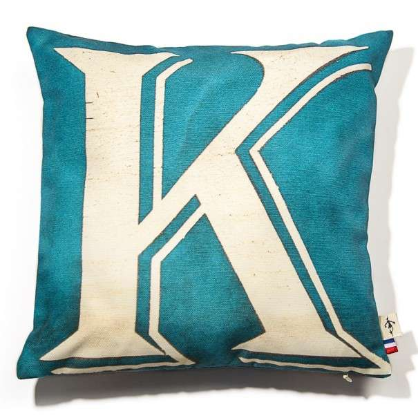 Alphabet cushion cover letter K