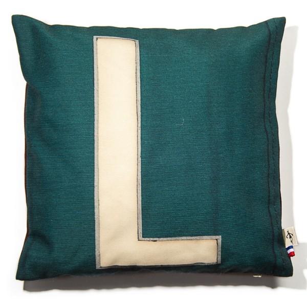 Alphabet cushion cover letter L