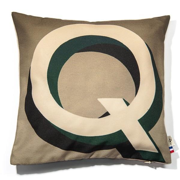 Alphabet cushion cover letter Q