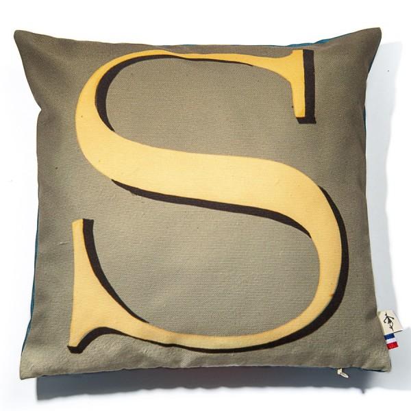 Alphabet cushion cover letter S