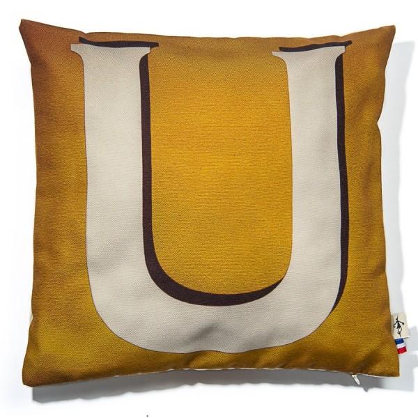 Alphabet cushion cover letter U