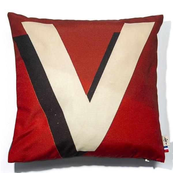 Alphabet cushion cover letter V