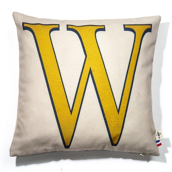 Alphabet cushion cover letter W