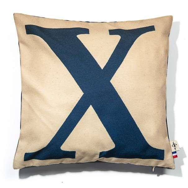 Alphabet cushion cover letter X