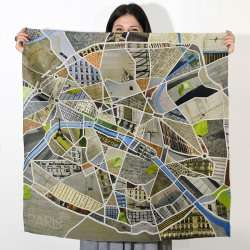 Foulard Plan de Paris