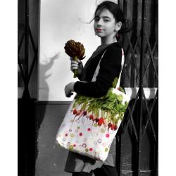 Graphic Vegetable tote bag Radish