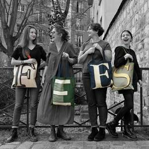 Alphabet letter tote bags